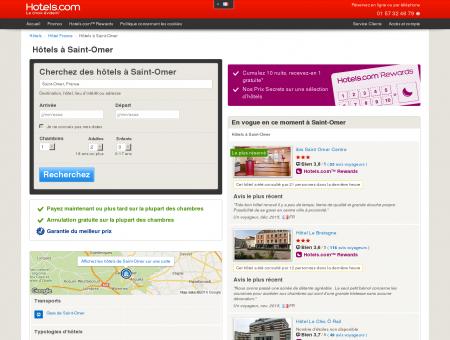 Hôtels à Saint-Omer - Prix mini garanti. Jusqu'a -50%.