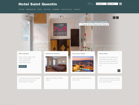 Hotel Saint Quentin Paris, Official Website