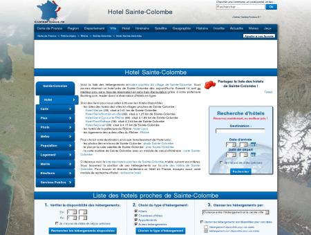 HOTEL SAINTE-COLOMBE : Réservation hôtels...
