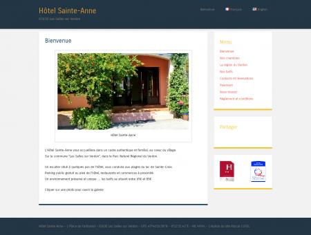 Bienvenue à l'hôtel Sainte-Anne