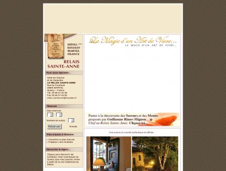 Hotel *** (3 étoiles) Restaurant Le Relais Sainte...