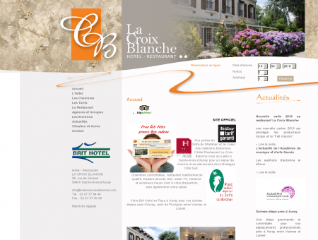 Hotel Restaurant Sainte Anne d'Auray - SITE...