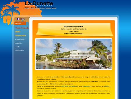 La Dunette - Hôtel, bar restaurant Martinique à...