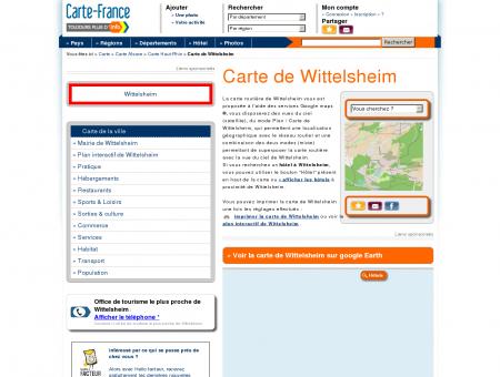 Carte et plan de Wittelsheim 68310 : Hôtel,...