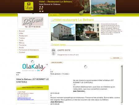 Hôtel - Restaurant Le Befranc | Saint Bonnet le...