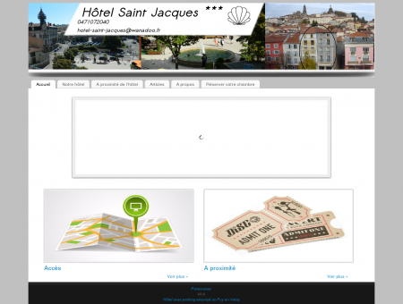 hôtel Saint Jacques, trois étoiles au Puy en...