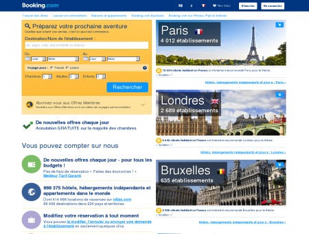 Booking.com: 856 593 hôtels dans le monde...