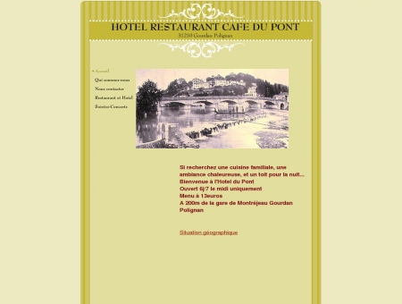 HOTEL RESTAURANT CAFE DU PONT - Accueil