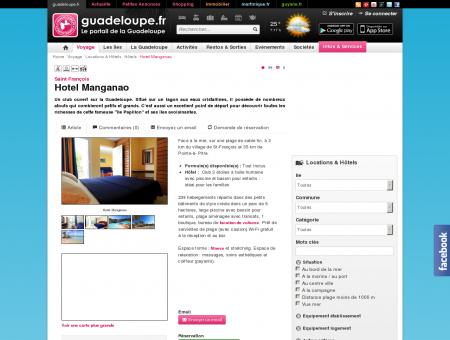 Hotel Manganao - Saint François - guadeloupe.fr