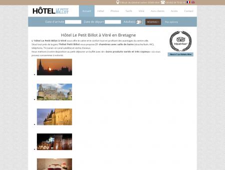 Hotel Le Petit Billot à Vitré - SITE OFFICIEL