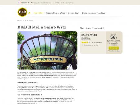 B&B Hôtels Saint Witz - Réservez votre hôtel en ligne.