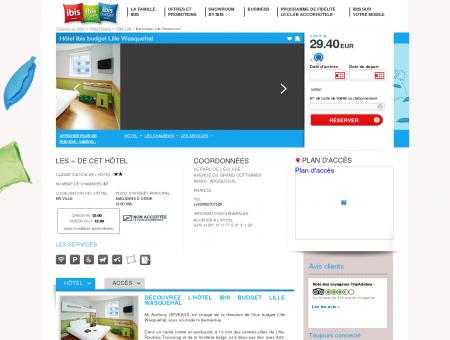 Hotel pas cher WASQUEHAL - ibis budget Lille...