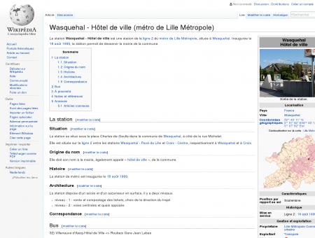 Wasquehal - Hôtel de ville (métro de Lille...