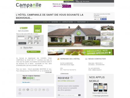 Campanile Saint Die | Proche Cristallerie de...
