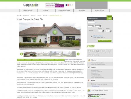 Hotel Campanile Saint Die | Campanile
