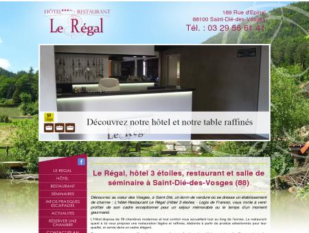 Hotel St Die - Restaurant Le Régal à Saint Dié