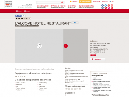L'ALCOVE HOTEL RESTAURANT - VILLEMUR...
