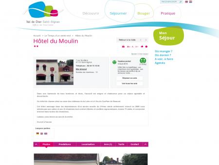 Hôtel du Moulin | Val de Cher Saint-Aignan