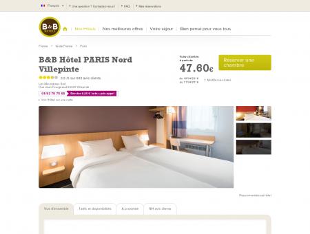 B&B-Hôtel pas cher Villepinte : hôtel proche...