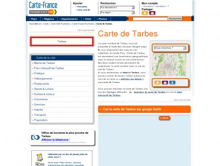 Carte et plan de Tarbes 65000 : Hôtel, tourisme ...