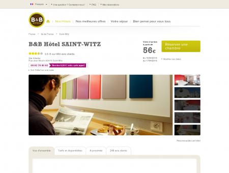 B&B Hôtels Saint Witz | hotel-bb.com