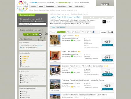 Hotel Saint Hilaire de Riez : 14 hotels pour un...