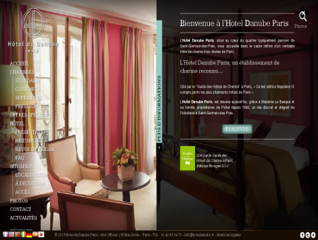 Hotel Danube Paris  Site Officiel  Saint...