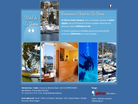 Hotel villefranche sur mer, La Darse ** etoiles,...