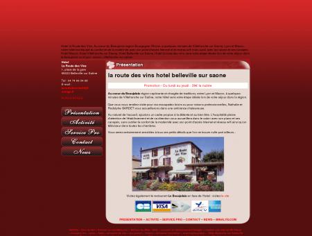 Hôtel Route des vins, Belleville sur Saône....