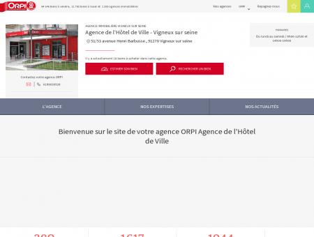 Agence immobilière Vigneux sur seine :...