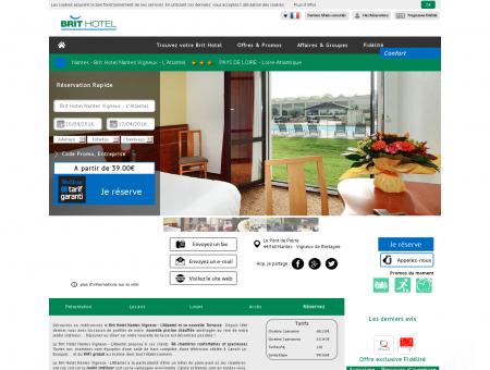 Brit Hotel Atlantel à Nantes - Vigneux de...