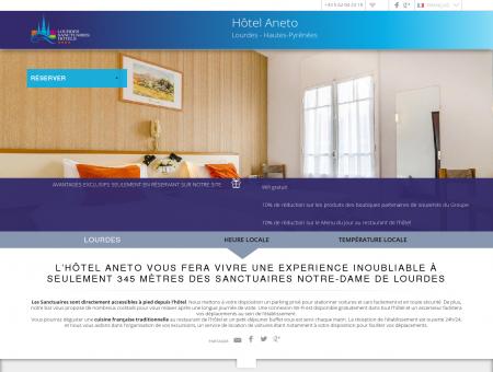 Hôtel Aneto à Lourdes. Site Web Officiel
