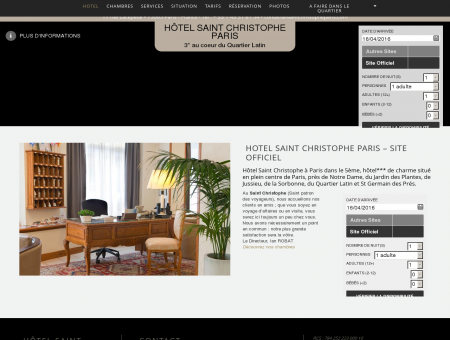 HOTEL SAINT CHRISTOPHE PARIS  Site officiel