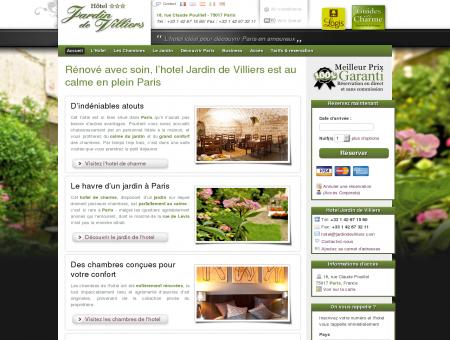 Hotel Jardin de Villiers - Paris 17e - Site Officiel