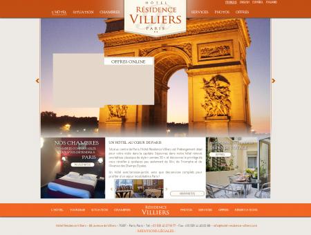 Hôtel Résidence Villiers | Hôtel Paris Centre,...