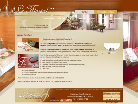 Hotel Floreal dans la ville thermale de Luchon...