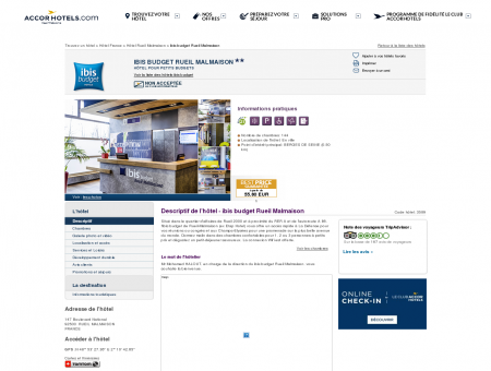 Hôtel à RUEIL MALMAISON - ibis budget Rueil...