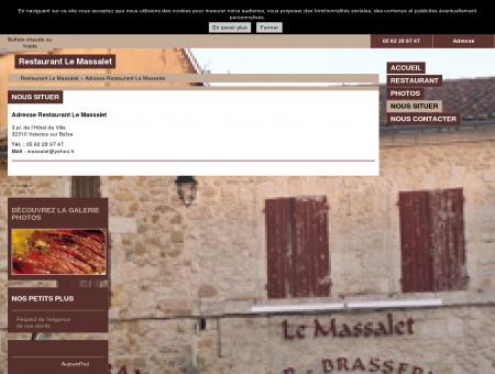 Adresse Restaurant Le Massalet à Valence sur...