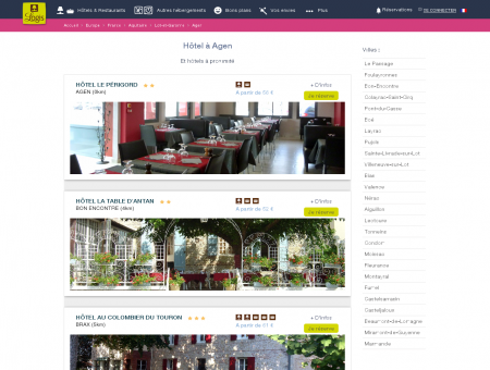 Hôtel Agen dans Lot-et-Garonne. Restaurants...