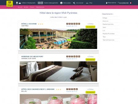 Réservez votre hôtel en région Midi-Pyrénées...