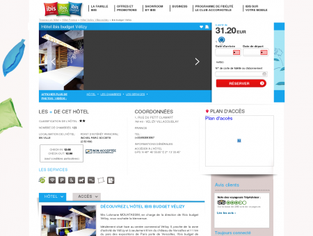 Hotel pas cher VELIZY VILLACOUBLAY - ibis...