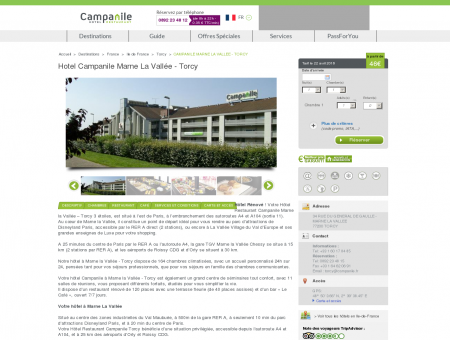 Hotel Campanile Marne La Vallée - Torcy |...