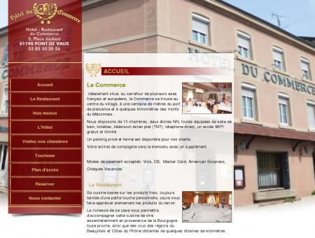 Hôtel restaurant du Commerce à Pont de Vaux,...