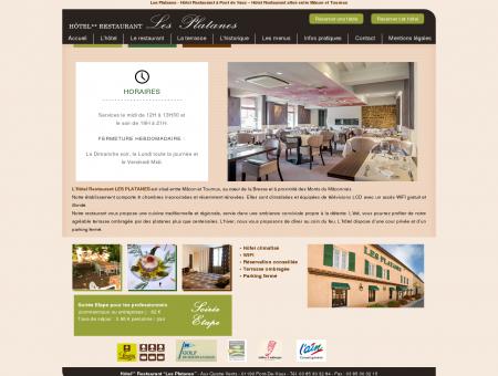 Les Platanes - Hôtel Restaurant à Pont de Vaux ...