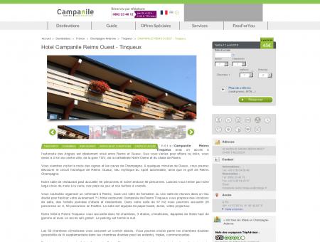 Hotel Campanile Reims Ouest - Tinqueux |...