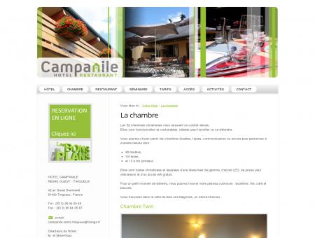 La chambre - Hôtel Campanile Reims Tinqueux