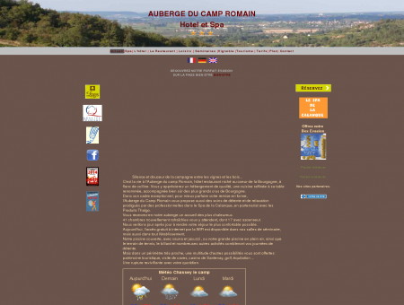 Auberge du Camp Romain, Site Officiel. Hotel...