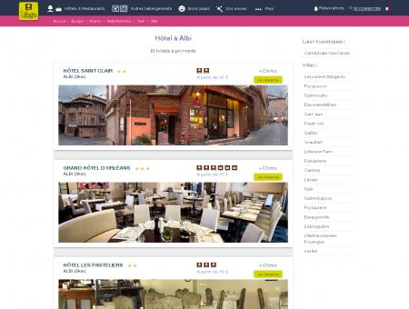 Hôtel Albi dans Tarn. Restaurants logis hotels...