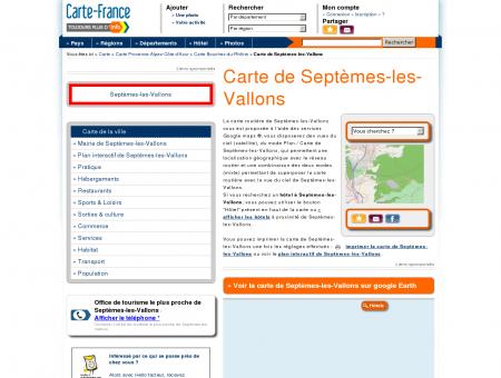 Carte et plan de Septèmes-les-Vallons 13240 :...
