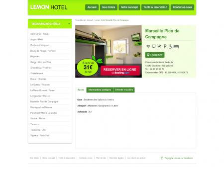 Lemon hôtel Marseille Plan de Campagne